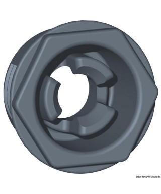Clip standard avec trou diamètre 20mm et saillie tête 2,5mm