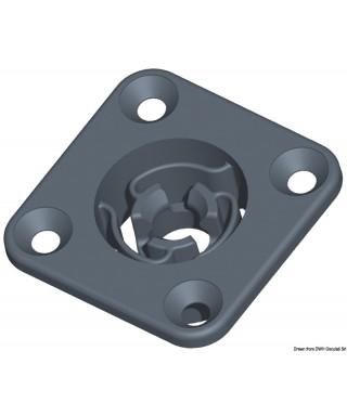 Clip auto-alignant carré avec trou diamètre 25mm et saillie tête 2,7mm