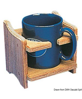 Porte-tasse ou canette teck 125x115x100 mm